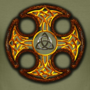 Triquetra and  Celtic Cross.png Tee shirts - Tee shirt près du corps Homme