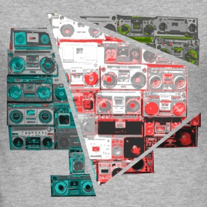 boom box splitted T-Shirts - Men's Slim Fit T-Shirt