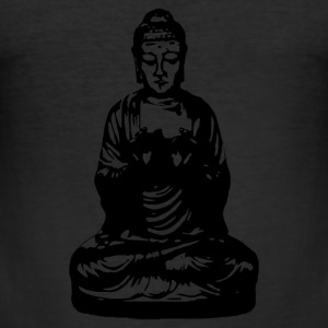 buddha sort T-shirts - Herre Slim Fit T-Shirt