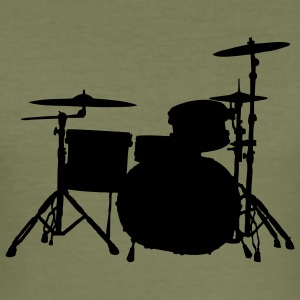 Drums olive - Männer Slim Fit T-Shirt