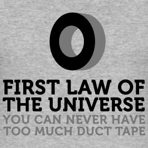 Duct Tape - First Law of Universe (2c) T-Shirts - Men's Slim Fit T-Shirt