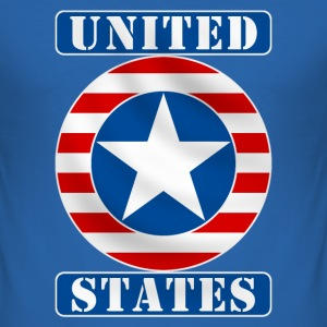 United States T-Shirts - Männer Slim Fit T-Shirt