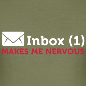 Inbox (1) Makes Me Nervous (2c) T-skjorter - Slim Fit T-skjorte for menn