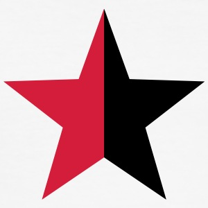 Anarchy Star Rebel Revolution Fight Left Red Black T-skjorter - Slim Fit T-skjorte for menn