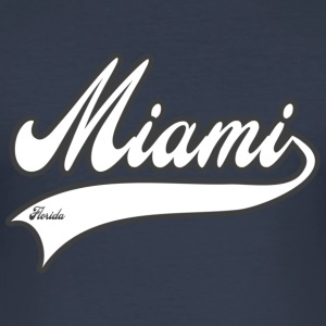 miami florida T-Shirts - Männer Slim Fit T-Shirt
