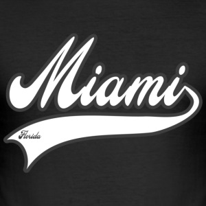 miami florida T-Shirts - Men's Slim Fit T-Shirt