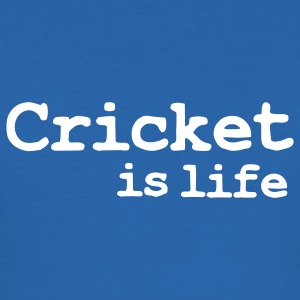 cricket is life T-shirts - Slim Fit T-shirt herr