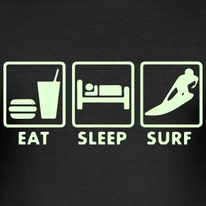 Surf Eat sleep Tee shirts - Tee shirt près du corps Homme