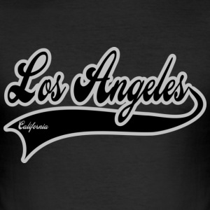 los angeles california T-shirt - Maglietta aderente da uomo