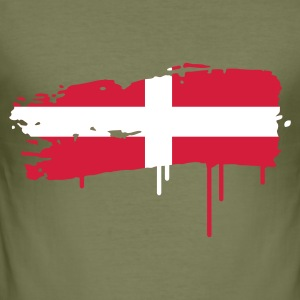 Swiss flag brush stroke T-Shirts - Men's Slim Fit T-Shirt