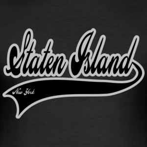 staten island new york T-skjorter - Slim Fit T-skjorte for menn
