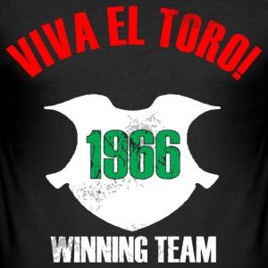 VIVA EL TORO! Winning Team. Slim shirt with front and back print - Männer Slim Fit T-Shirt