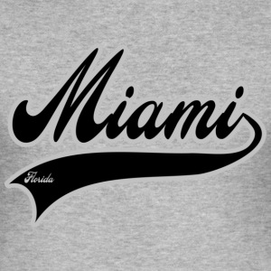 miami florida T-shirts - Slim Fit T-shirt herr
