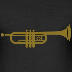 A trumpet  T-Shirts - Men's Slim Fit T-Shirt