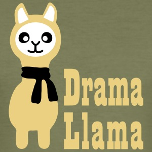 Drama Llama T-Shirts - Männer Slim Fit T-Shirt