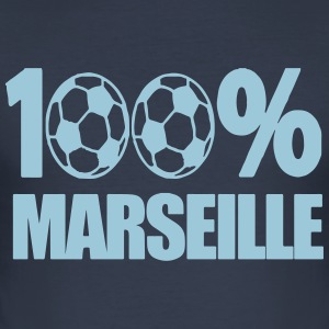 100% Marseille foot OM Tee shirts - Tee shirt près du corps Homme