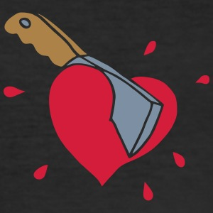 Broken Hearts Love Hate Axe Knife Messer Axt Kill Tee shirts - Tee shirt près du corps Homme