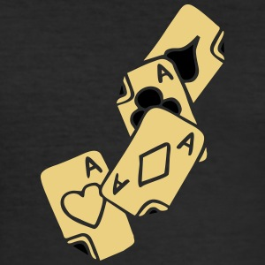 Poker Cards Game Ace Heart Spade Cross Caro Tattoo T-shirts - slim fit T-shirt