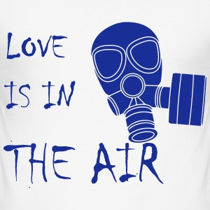 Anti Valentinstag Love Is In The Air Gasmaske T-Shirts - Männer Slim Fit T-Shirt