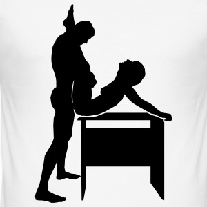 sex position T-Shirts - Men's Slim Fit T-Shirt