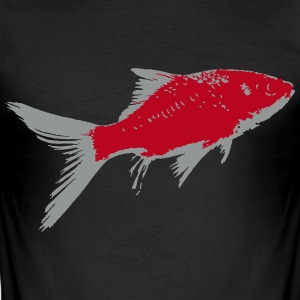 Poisson Rouge 2 Tee shirts - Tee shirt près du corps Homme