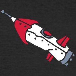 space shuttle space ship Rakete rocket satellite T-Shirts - Männer Slim Fit T-Shirt