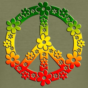 Reggae Peace Symbol Love Freedom Flower Summer T-Shirts - Männer Slim Fit T-Shirt