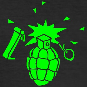 hand handgrenades soldiers war game explosion boom T-shirts - slim fit T-shirt