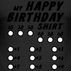Birthday Custom Shirt - Men's Slim Fit T-Shirt