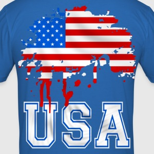 united states 07 T-Shirts - Men's Slim Fit T-Shirt