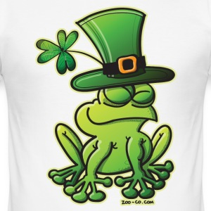 Saint Patrick's Day Frog T-Shirts - Men's Slim Fit T-Shirt