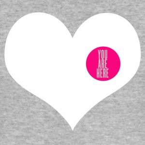 you are here - Liefde en Valentijnsdag T-shirts - slim fit T-shirt