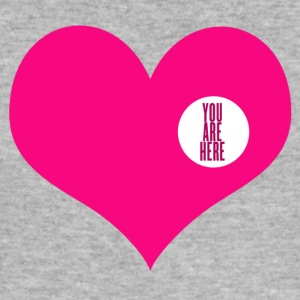 you are here - Kjærlighet og Valentinsdag T-skjorter - Slim Fit T-skjorte for menn