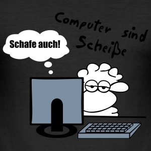 Computerschaf T-Shirts - Männer Slim Fit T-Shirt