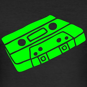Musikkassette Tonband Music cassette tape retro T-shirts - Slim Fit T-shirt herr