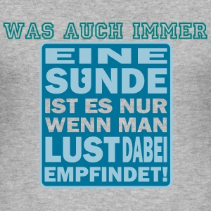 SÜNDE - Männer Slim Fit T-Shirt