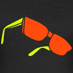 sunglasses dark glasses eighties porn cool sexy T-Shirts - Männer Slim Fit T-Shirt