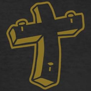 Kreuz Nägel Religion Jesus Tattoo crucifix christ T-Shirts - Men's Slim Fit T-Shirt