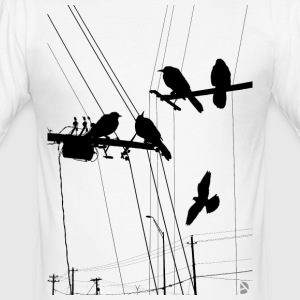 AD Birds T-skjorter - Slim Fit T-skjorte for menn