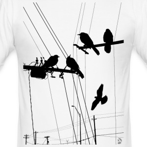 AD Birds T-shirts - Slim Fit T-shirt herr