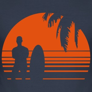 BEACH SURFING BOY PALME 1C T-Shirts - Men's Slim Fit T-Shirt