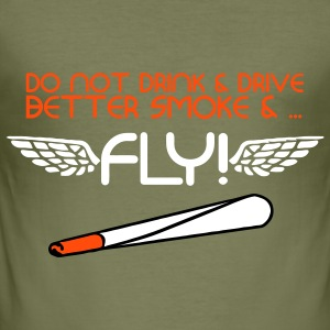 Smoke And Fly T-Shirts - Men's Slim Fit T-Shirt
