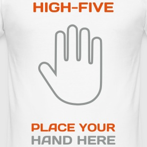 Funny Idea - High Five T-Shirts for Parties T-Shirts - Männer Slim Fit T-Shirt