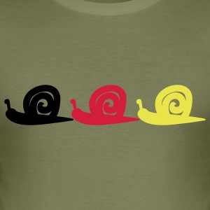 Snail T-skjorter - Slim Fit T-skjorte for menn