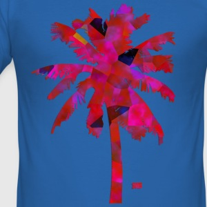 Pink palmtree T-Shirts - Men's Slim Fit T-Shirt