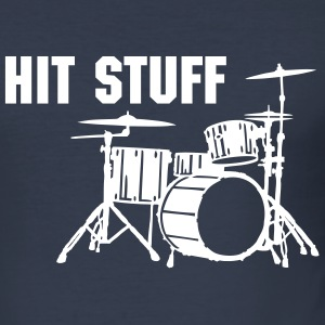 Hit Stuff Drums Silhouette Shirt - Männer Slim Fit T-Shirt