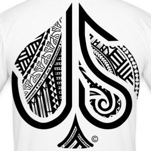 ACE of Spades Tribal  T-Shirts - Men's Slim Fit T-Shirt