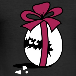 Chick in Easter Egg with Ribbon  T-Shirts - Men's Slim Fit T-Shirt