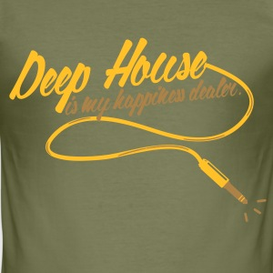 DEEP HOUSE IS MY HAPINESS DEALER Tee shirts - Tee shirt près du corps Homme