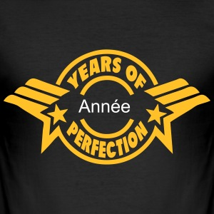 addieren Jahr  years perfection 3 logo  T-Shirts - Männer Slim Fit T-Shirt